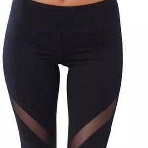 Pants - Woman's Mesh Yoga Pants